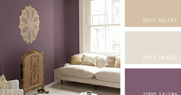 Beige living room with purple feature wall pictures - Purple feature wall living room ideas ...