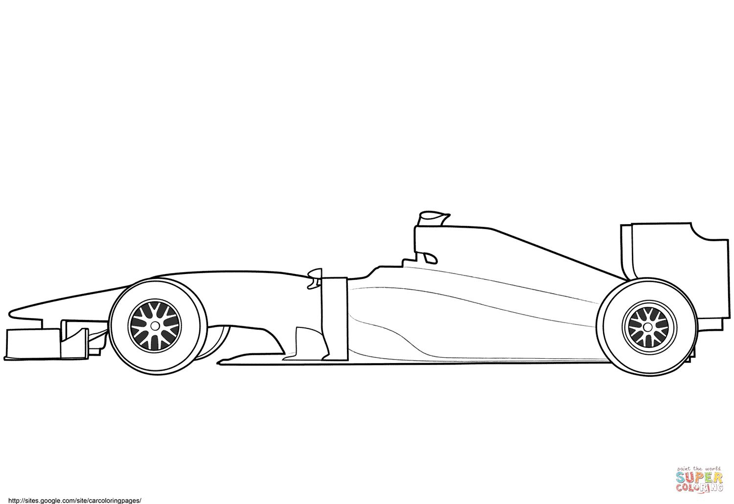 Blank Formula 1 Race Car Coloring Page In 2020 Race Car Coloring