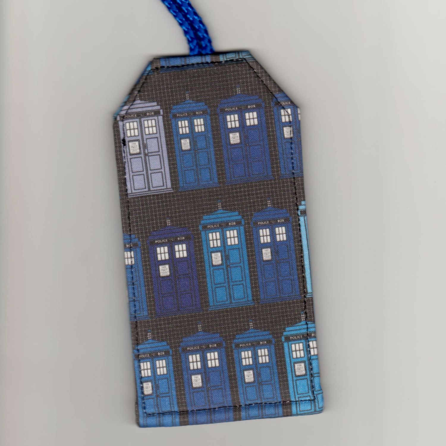 Luggage Tags Dr Who Tardis Police Box Fabric Amp Vinyl
