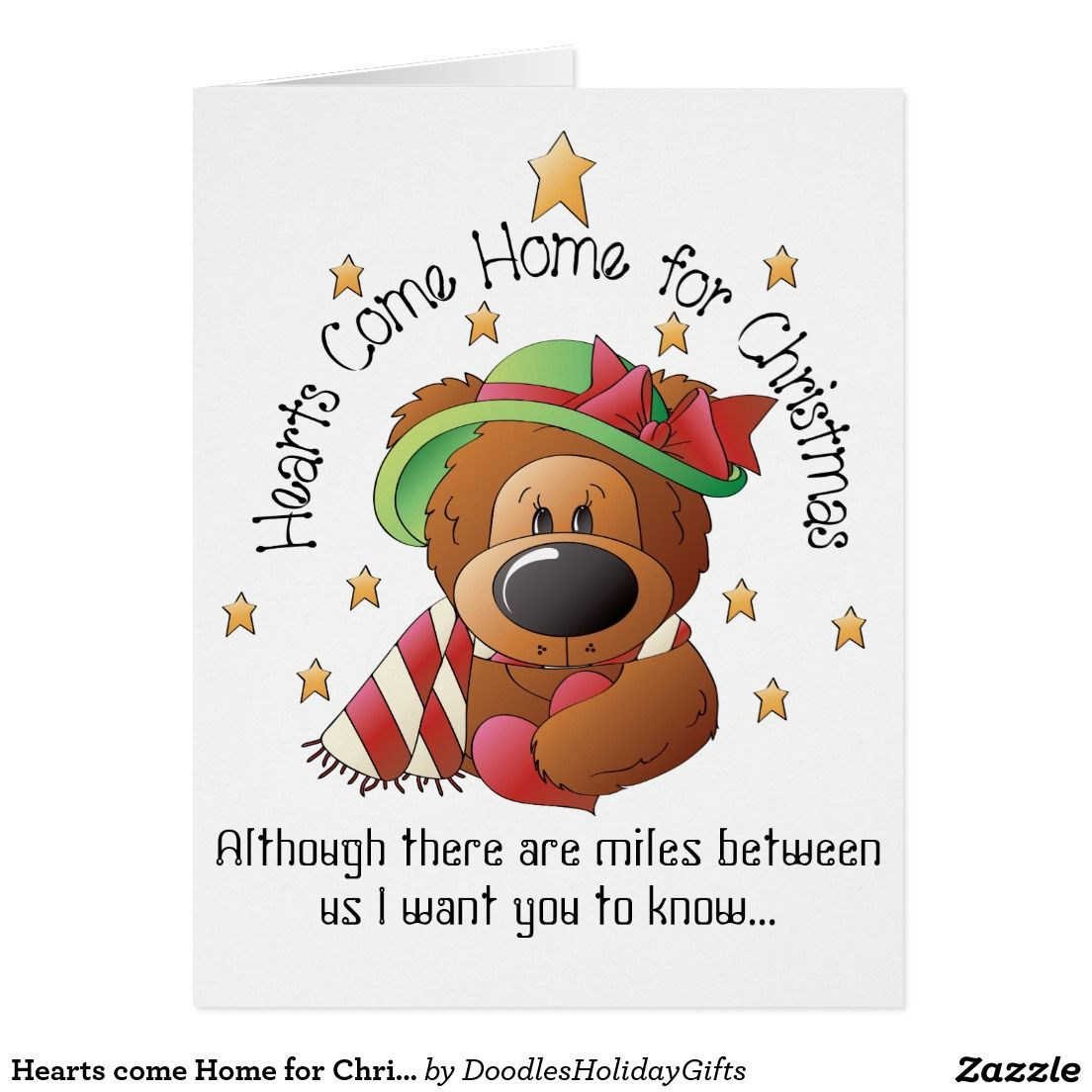 Hearts come Home for Christmas bear big card | Pinterest