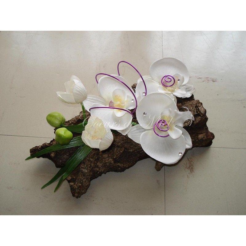 porte alliances r alis pour un mariage sur le th me orchid e avec l 39 association de l 39 corce de. Black Bedroom Furniture Sets. Home Design Ideas