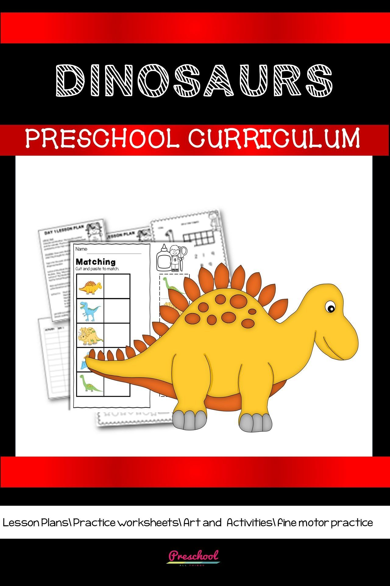 Dinosaur Preschool Theme In