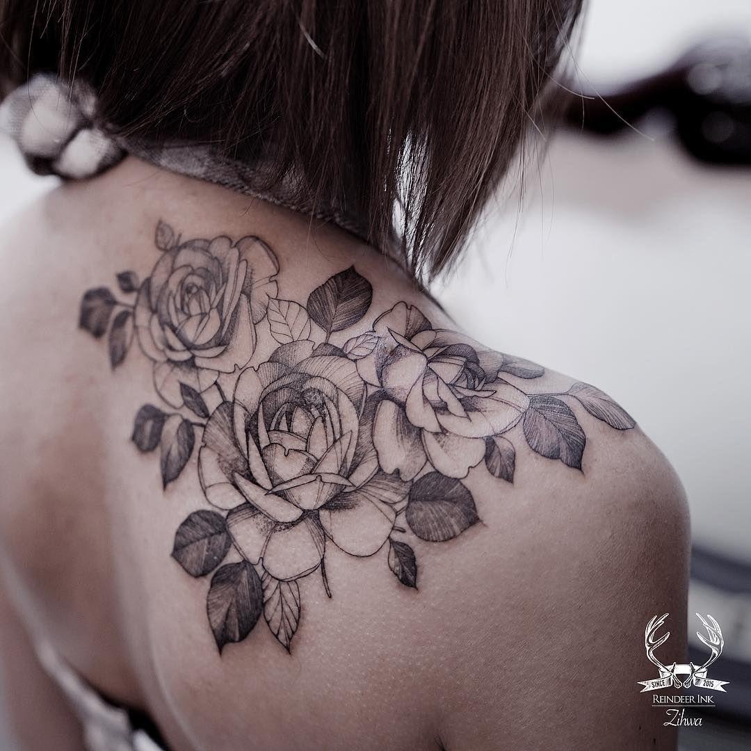 Tatuaż Róża Tatuaże Flower Tattoo Shoulder Shoulder