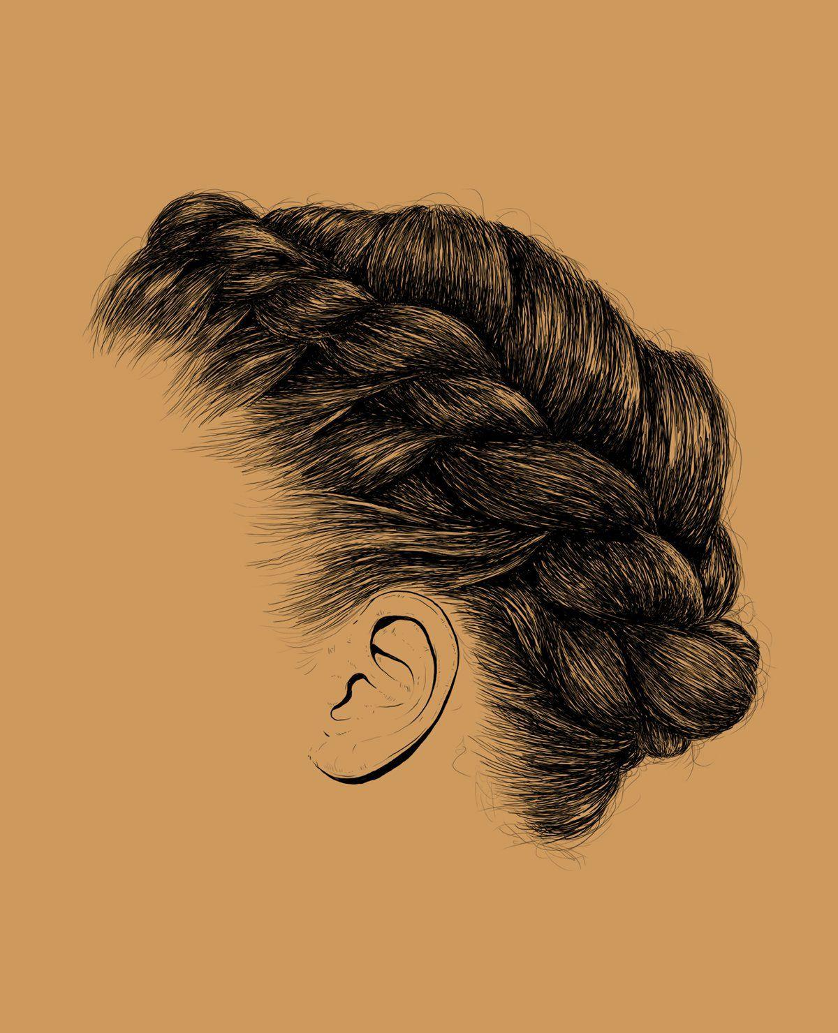 Style Self Love Inspiration Drawing Vector Natural Hair Hair