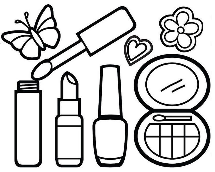 Awesome Makeup Kit Coloring Page For Your Little Princess Princess Coloring Pages Coloring Pages Coloring Pages To Print