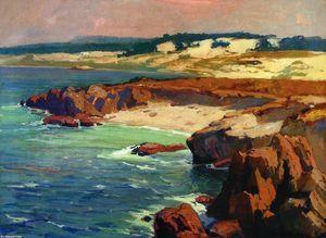 Dunes de sable de la côte rocheuse - (Franz Bischoff)