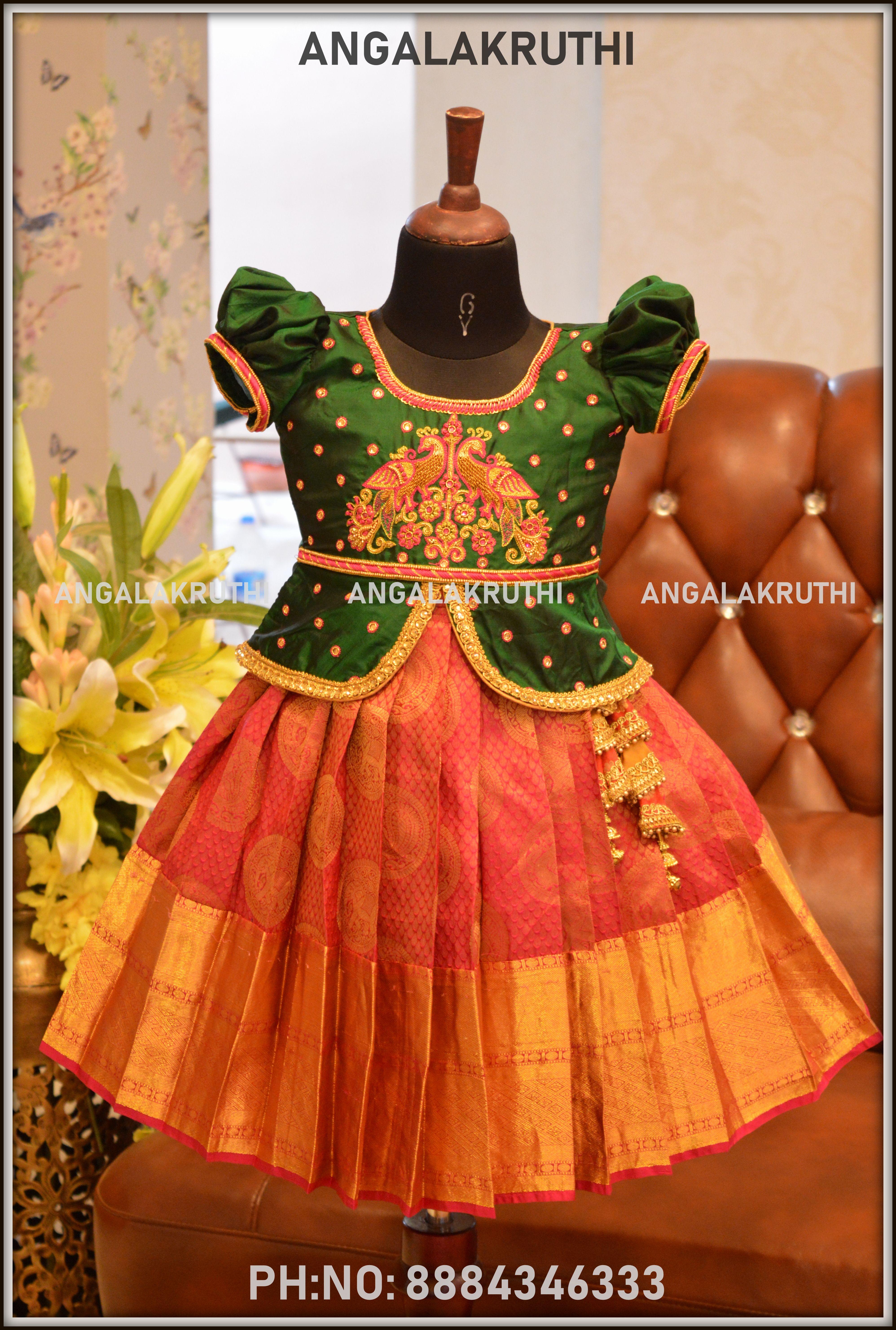 Just Born Babay Girl Indian Traditional Pavada Designs Kids Blouse Designs Kids Designer Dresses Dresses Kids Girl