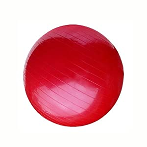 AINAAN Premium Extra Thick Yoga Ball, Anti-Burst - Slip Resistant!-Red - fitness