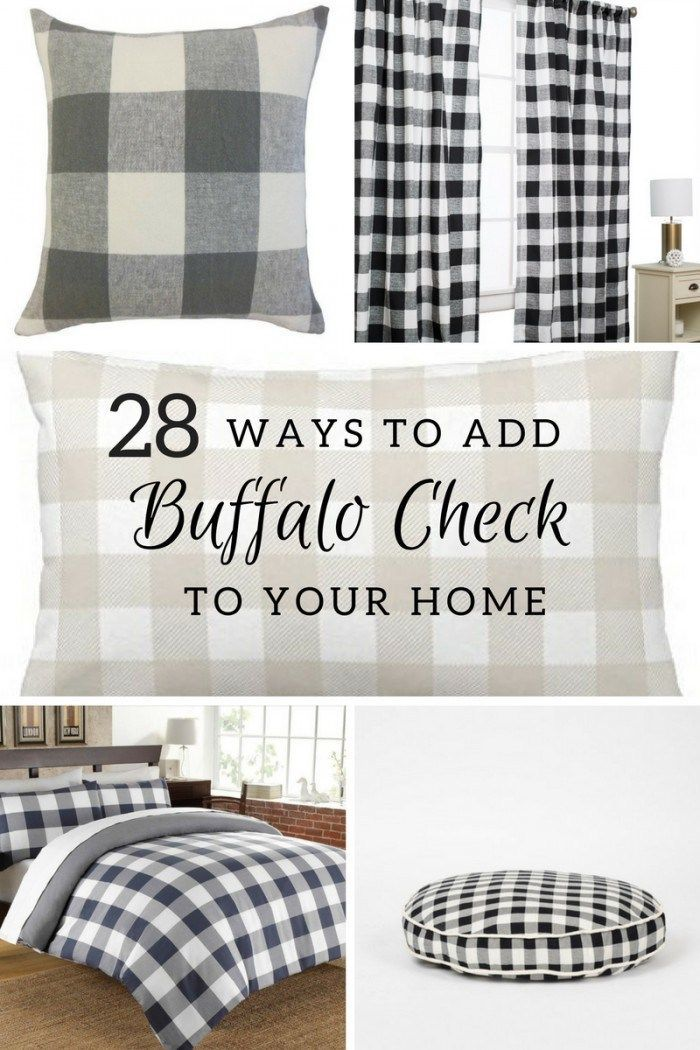 930b1a041641 28 ways to add buffalo check to your home! I love this stuff! Did you see  that dog bed  Adorable!  TwelveOnMain  farmhousedecor  buffalocheck   homedecor