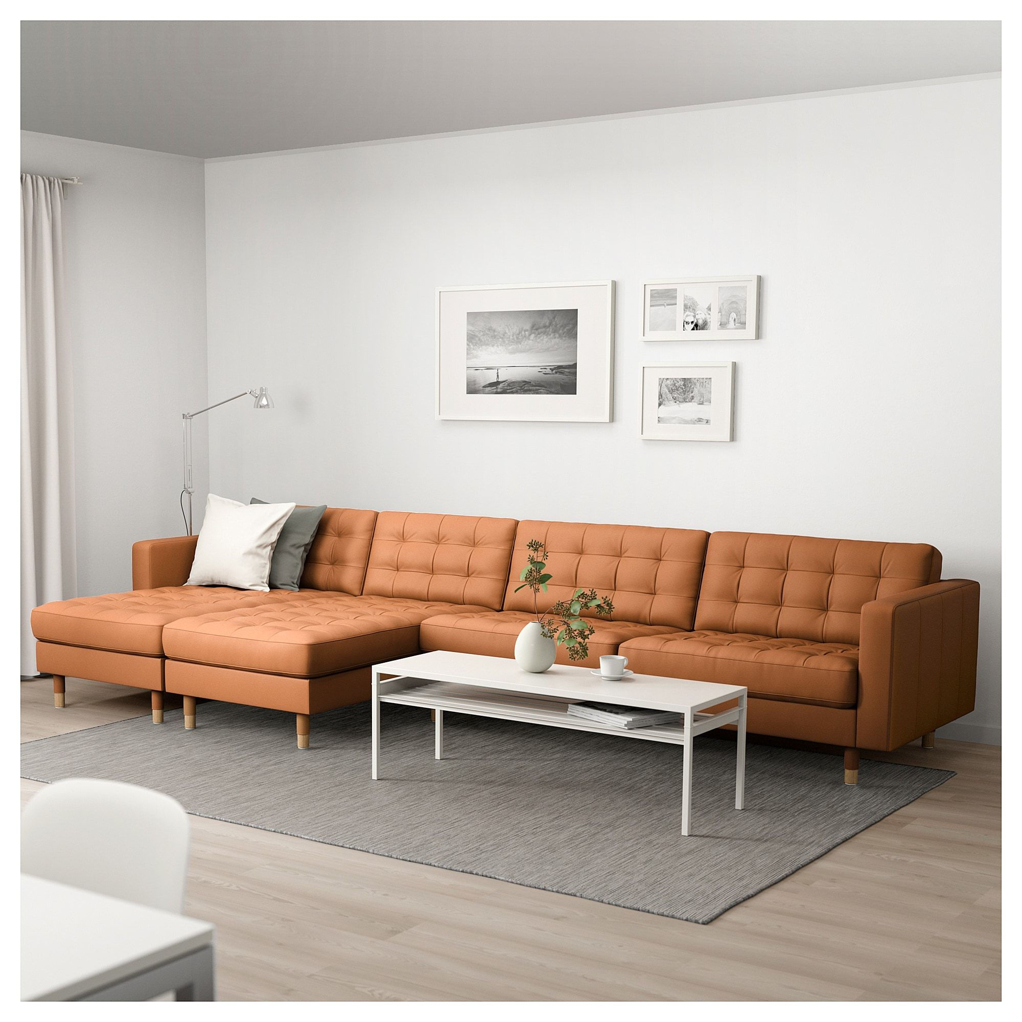 Landskrona Ikea Ecksofa Landskrona Sectional 5 Seat With Chaise Grann Bomstad