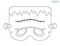 Printable halloween masks 2 frankenstein halloween for Halloween face mask templates