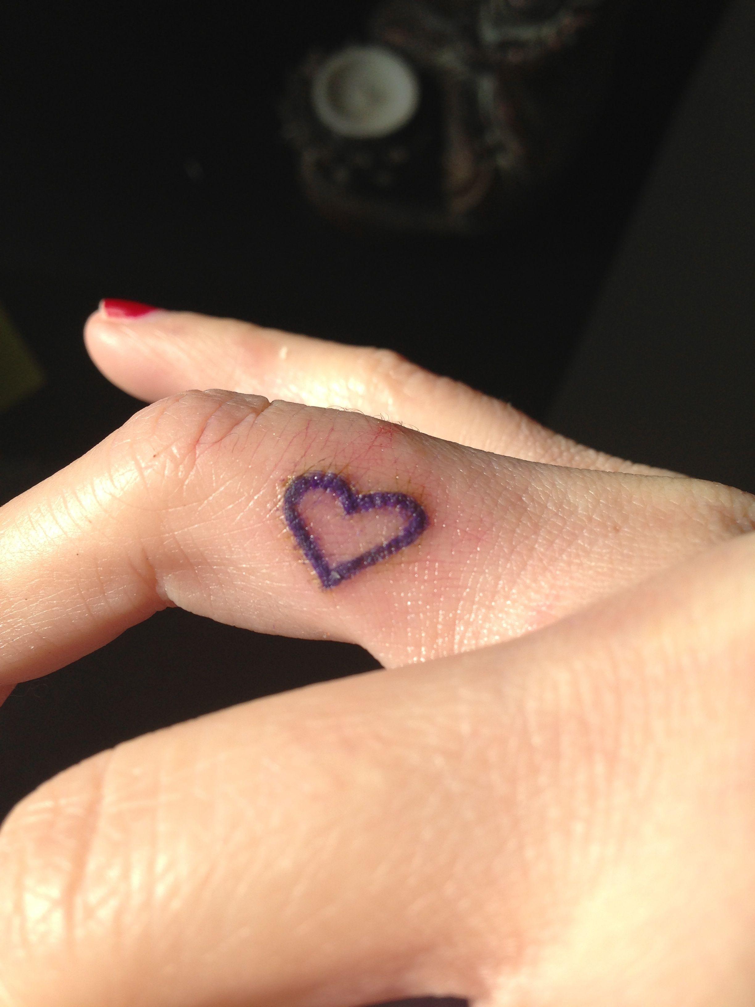 Heart Finger Tattoo Jpg 2448 3264 Purple Heart Tattoos Heart Tattoo On Finger Heart Tattoo Wrist