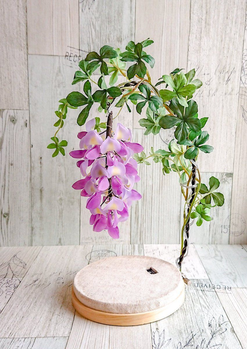 Wisteria Flower Lamp Out Of A Fantasy World Designed By Airoiro Design Idea Interior Japanese In 2020 Flower Lamp Wisteria Design