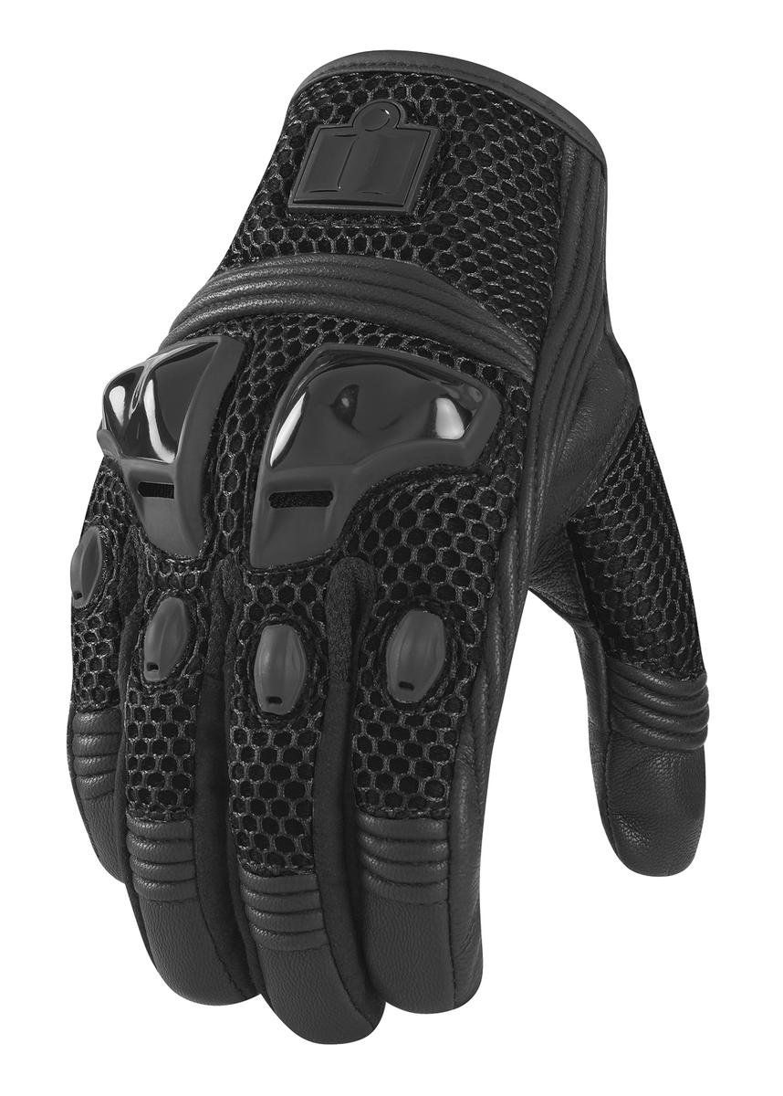 Icon justice leather motorcycle gloves - Amazon Com Icon Justice Men S Leather Mesh Street Racing Motorcycle Gloves Stealth