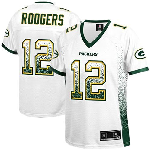 The Women's Nike Green Bay Packers Aaron Rodgers Elite Drift ...