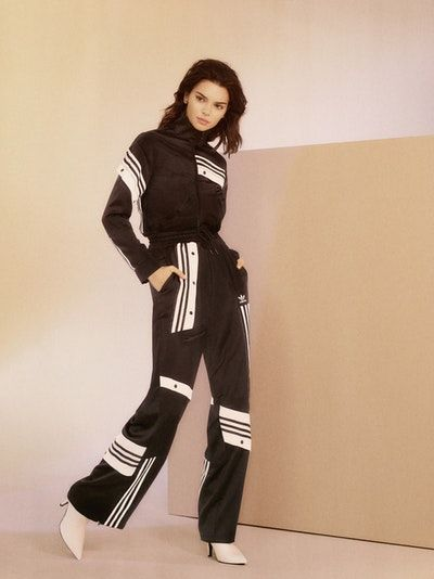 67286ecb7949 Kendall Jenner Models in adidas Originals  New Tracksuit Campaign in ...