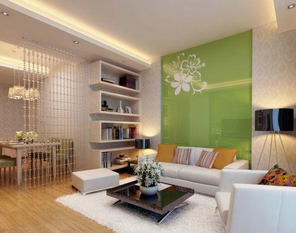 Bilder Wohnzimmer ~ Farbideen wohnzimmer vorteile der blauen und grünen farbtöne