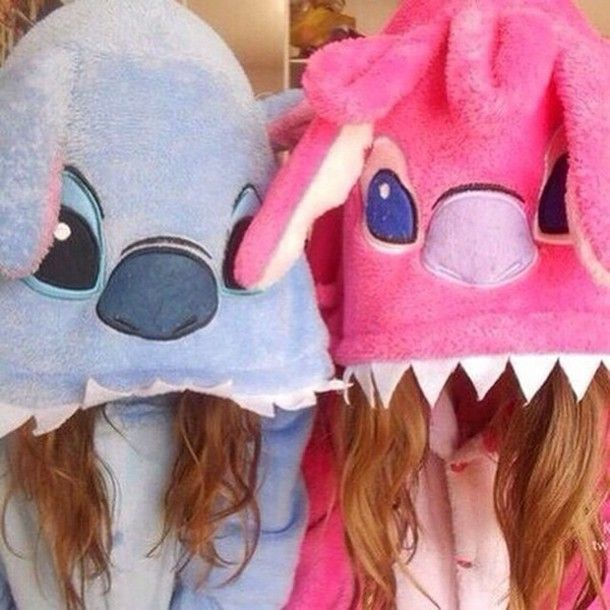 pajamas pink and blue stitch onsies super cute and so adorable shirt