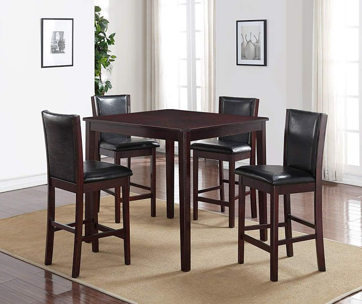Home Furniture For Less: I Found A Espresso 5-Piece Pub Set At Big Lots For Less