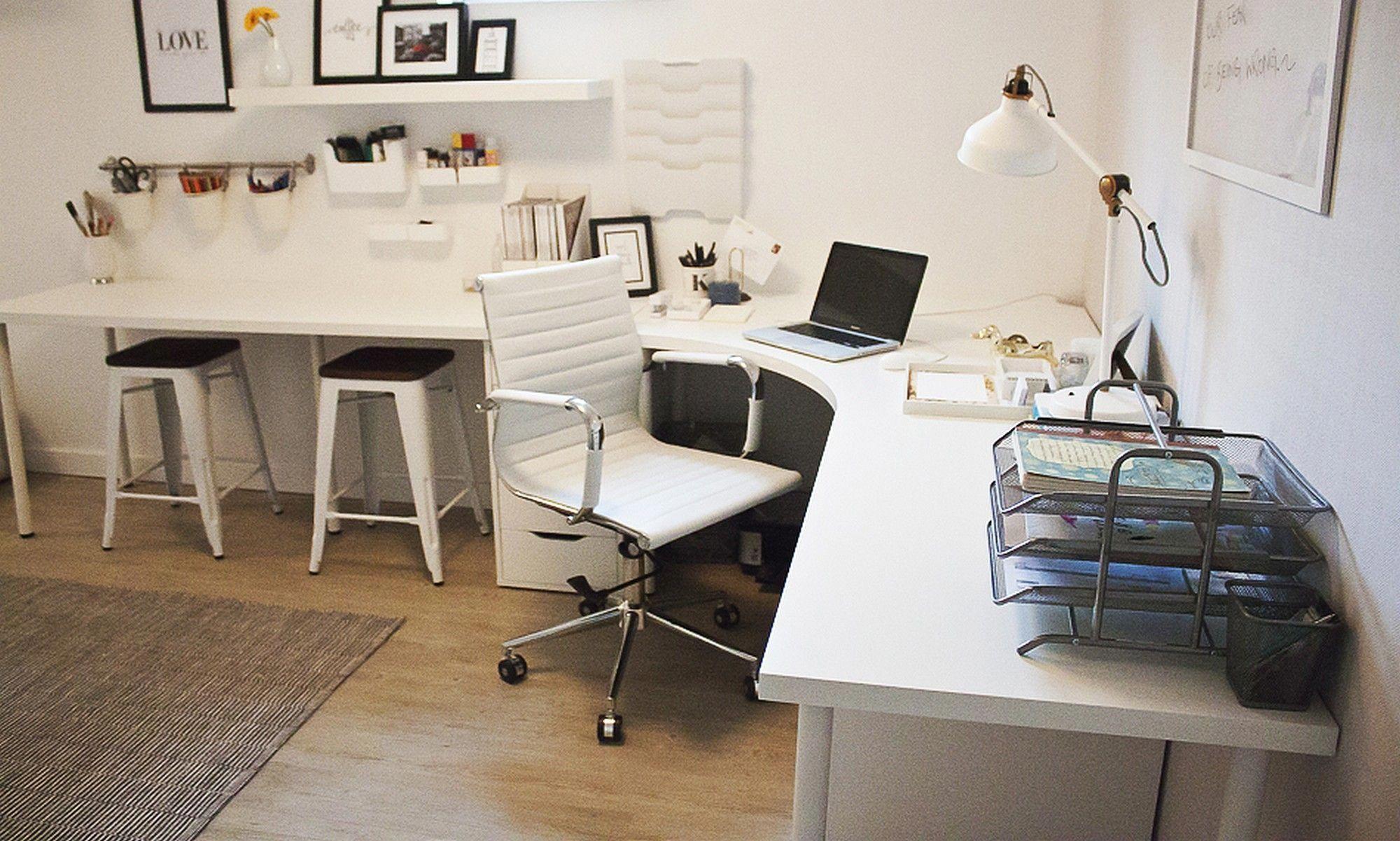 Home Office Corner Desk Setup Ikea Linnmon Adils Combination Homeofficeideas Officedesk Home Office Design Ikea Home Office Corner Desk Office