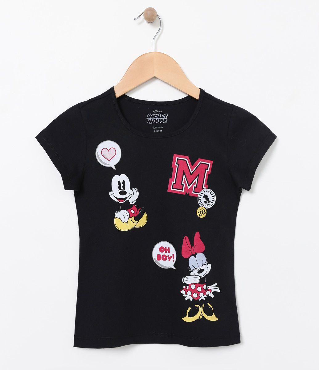 0876193eeb4016 Camiseta Infantil Manga curta Gola redonda Com estampa Marca: Mickey ...