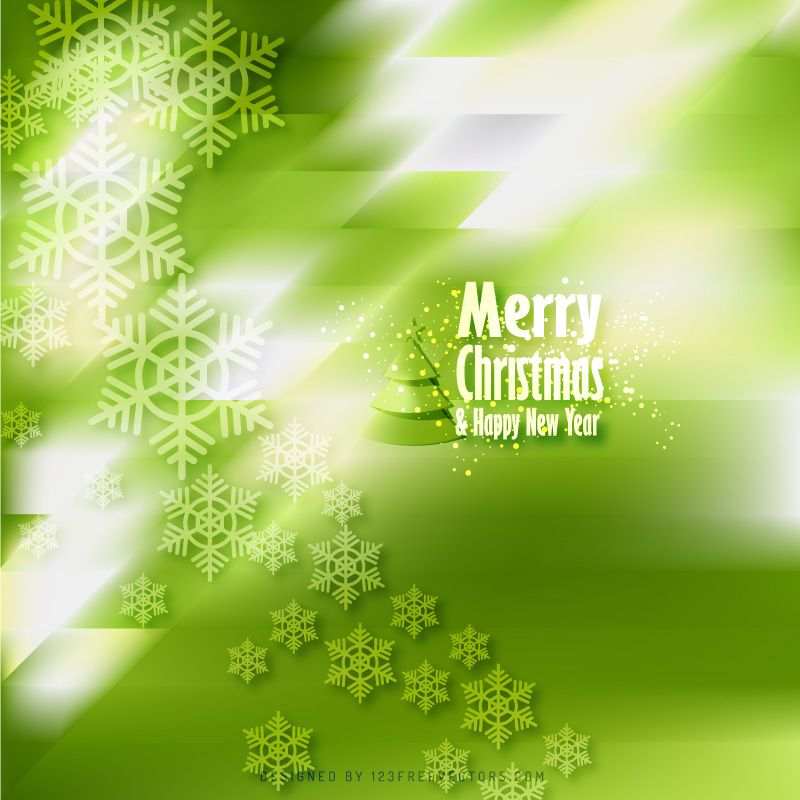 merry christmas snowflakes green background template in 2018