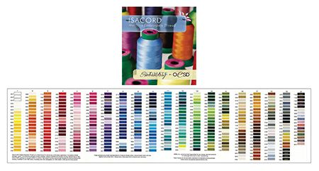 Isacord Polyester Thread Charts Two Styles To Choose From