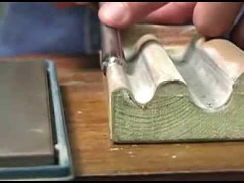 Woodcarving basics - 05 Sharpening Gouges and V Tools ...