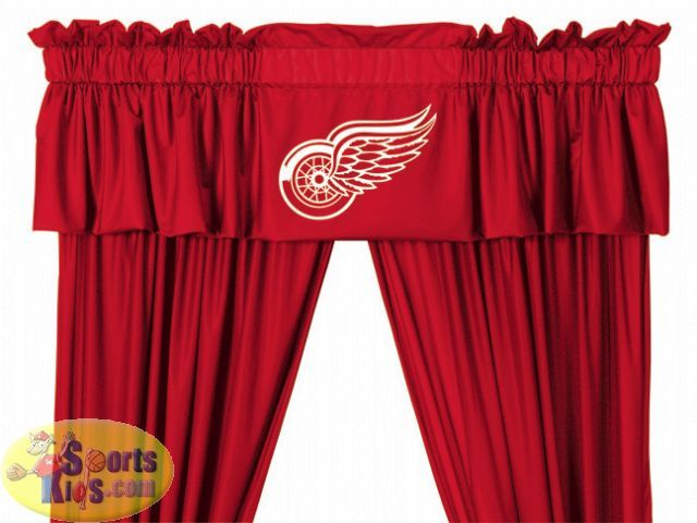 Detroit Red Wings Window Valance Red Wings