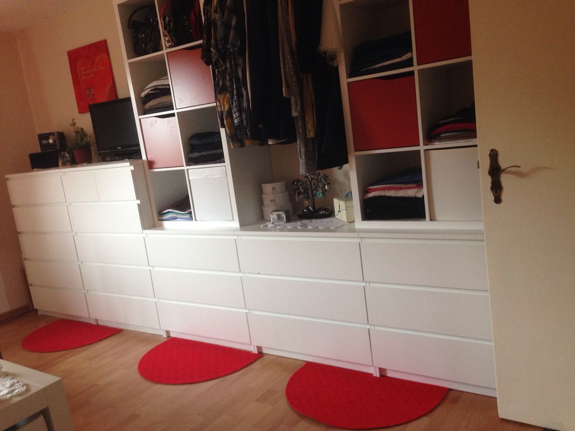 Love Our New Bedroom And The Ikea Kallax Shelfs Work Great