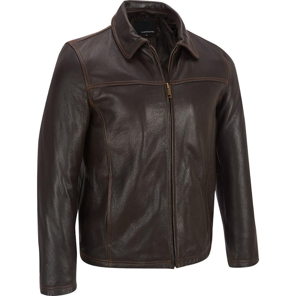 Big & Tall Leather Jacket with Thinsulate™ Lining