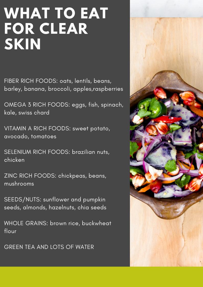 النظام الغذائي لحب الشباب ماذا تأكل للبشرة الصافية in