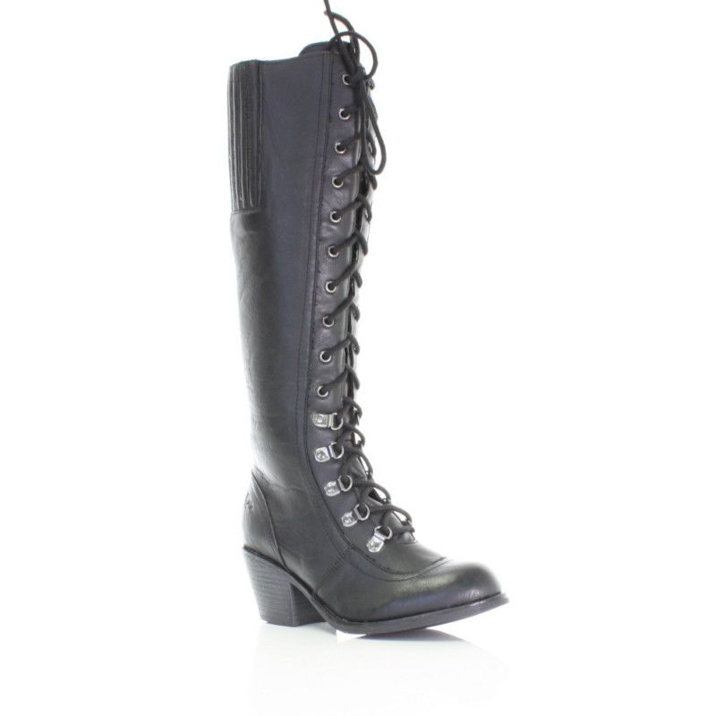 01aeaffe94d WOMENS ROCKET DOG RACHEL BLACK KNEE HIGH WIDE CALF FIT ADJUSTABLE BOOT SIZE  3-8
