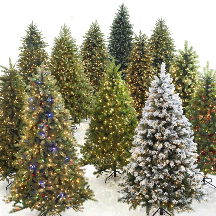 Easy to set up and store, artificial trees don't shed needles and ...
