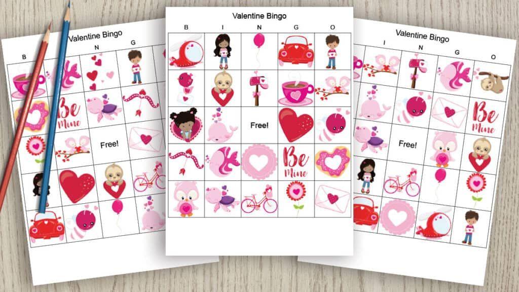 Free Printable Valentine's Day Bingo Valentines