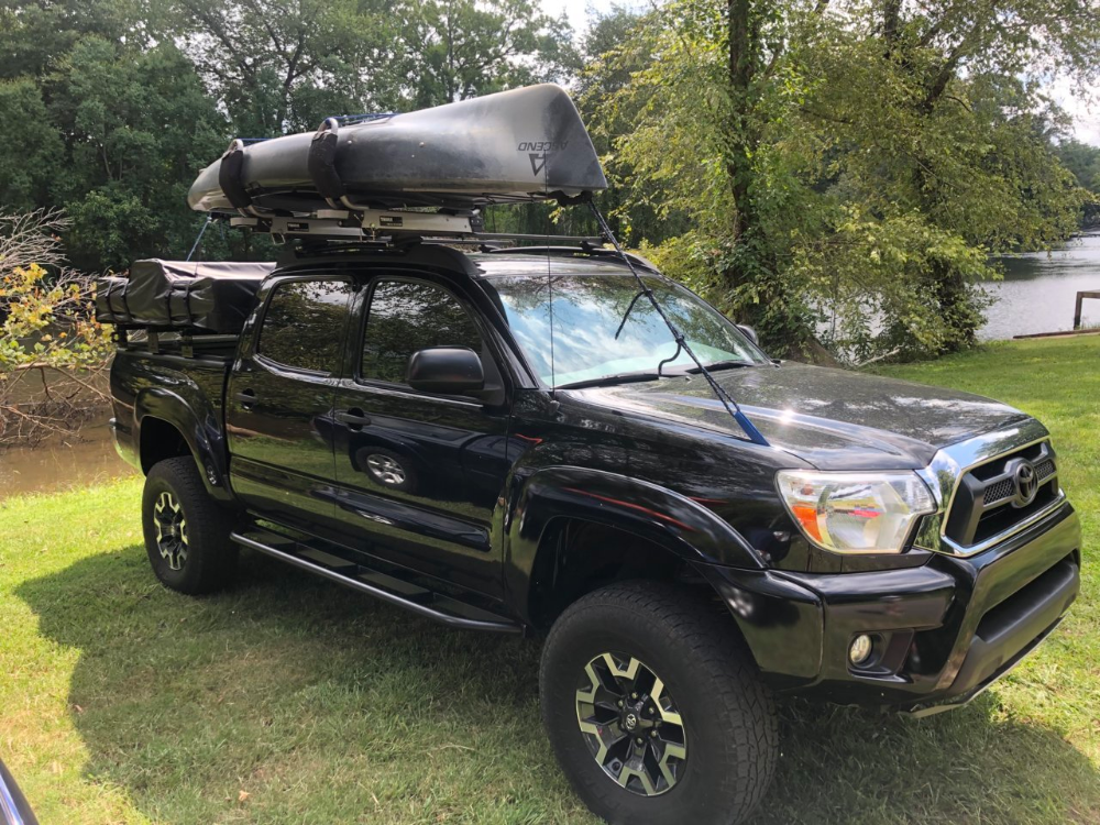 Prinsu+bed rack+tent+kayak Overland world