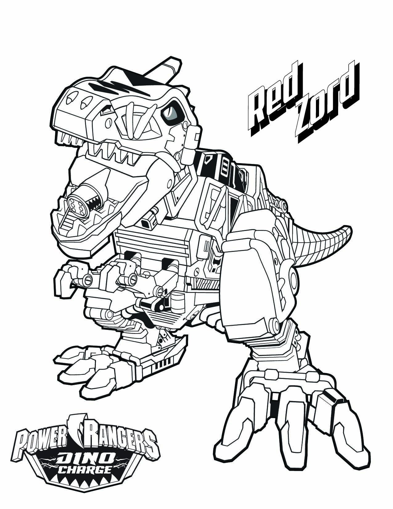 Ausmalbilder Jungs Dinosaurier : Tyrannosaurus Rex Coloring Page Power Rangers The Official Power