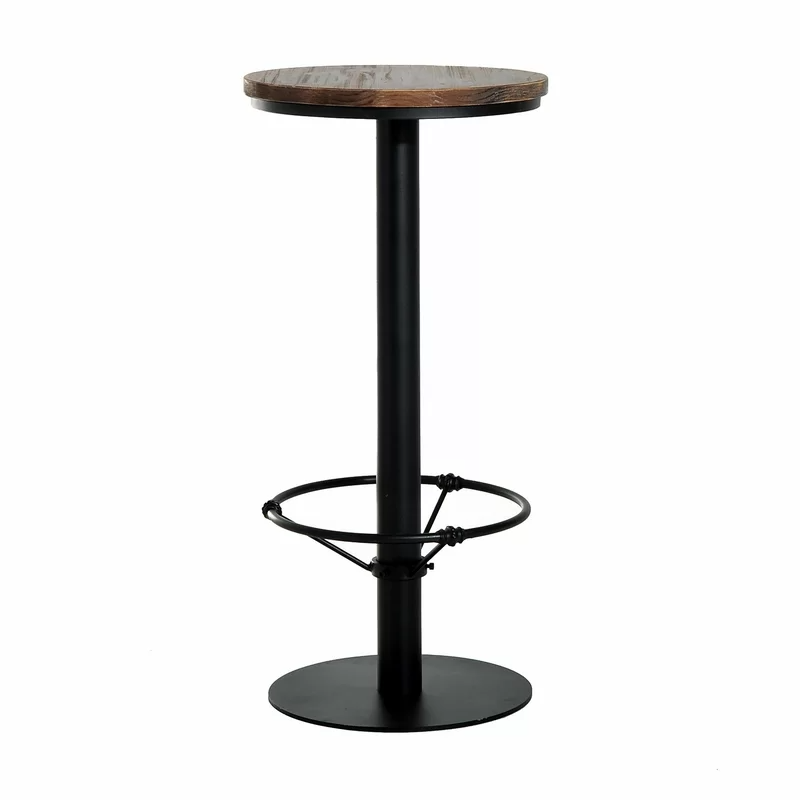 Williston Forge Liesel Bar Height Standing Pub Table With Wood Top Pub Table Pub Table Sets Bar Height