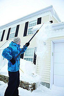 Amazon Com True Temper 17 Feet Telescoping Snow Roof Rake 193055510 Garden Amp Outdoor Snow Rake Roof Rake
