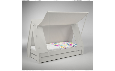 TENTBED WIT MATHY BY BOLS - Kinderbed, Caravanbed, Thema bed | De Boomhut