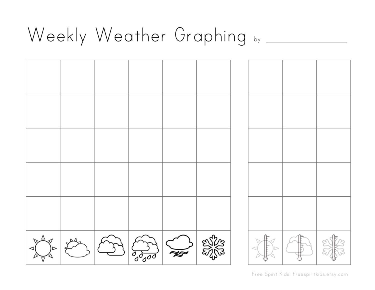 Instant Download Montessori Printable Weekly Weather