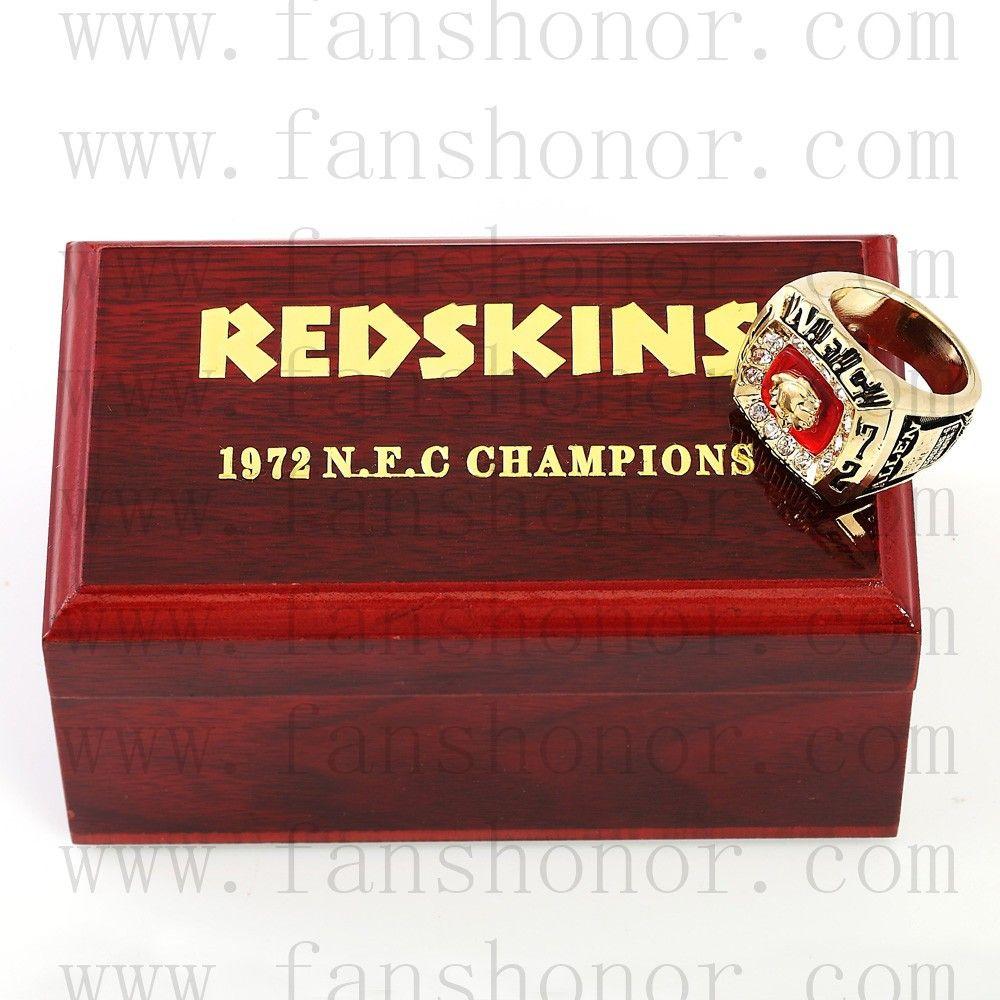 Custom nfc 1972 washington redskins national football