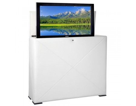 Notting Hill White Tv Lift Cabinet By Tvliftcabinet Com Tv Lift Cabinet White Tv Tv In Bedroom