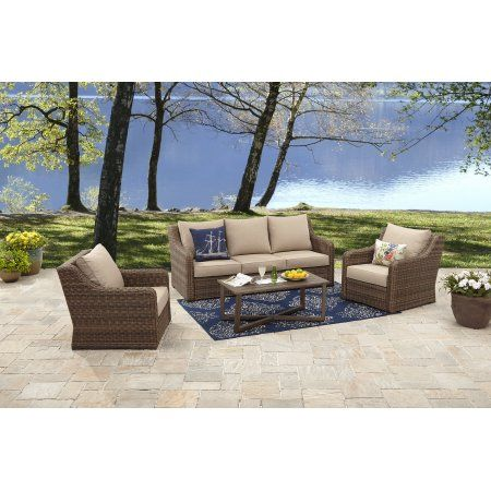 Better Homes and Gardens Hawthorne Park 4-Piece Sofa Conversation Set - Better Homes And Gardens Hawthorne Park 4-Piece Sofa Conversation