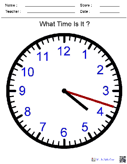 This website creates time worksheets depending on your