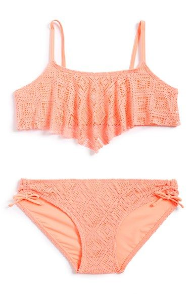 Gossip+Girl+Two-Piece+Swimsuit+(Big+Girls)+(Online+Only)+available+at+#Nordstrom