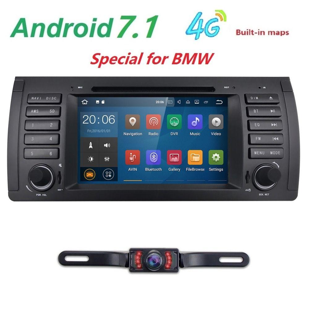 Hd 1024 600 Car Dvd Player For Bmw 5 Series X5 E53 E39 M5 Android 7 1 Quad Core 4x1 6ghz Cpu 2gb 16gb Flash Radio Stereo Gps Bmw E39 Car Car Stereo