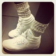 Slouch socks, Reebok freestyle, 80s shoes