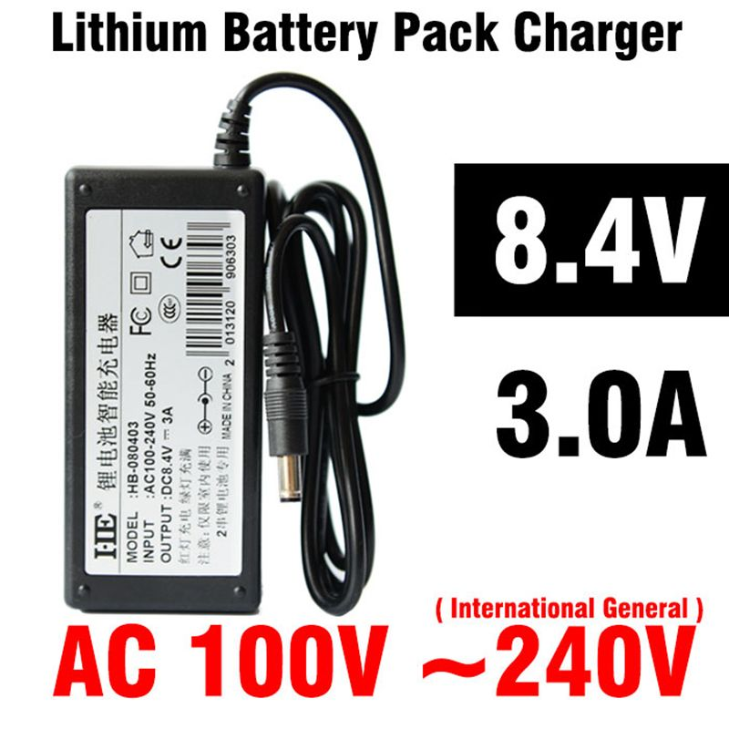 8.4V 3.0A Battery Pack Charger for Hoverboard Free Shipping Charger ...