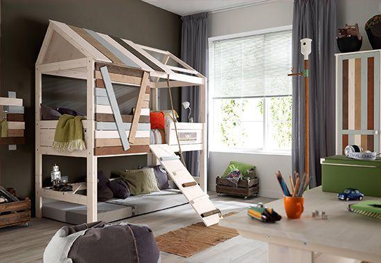 baumhausbett multi color mega cool finn pinterest kinderzimmer baumhaus und hochbetten. Black Bedroom Furniture Sets. Home Design Ideas